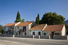 Attached houses in Seline Stock Photos