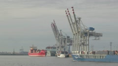 Cargo ship. Hamburg. Stock Footage