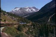 White Pass & Yukon Railroad, Alaska, POV, train and vast mountain scenery Stock Footage