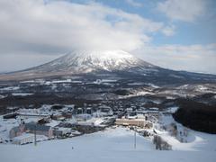 Ski runs in Hokkaido, Japan Stock Photos