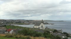 View from Macduff to Banff Scotland Stock Footage