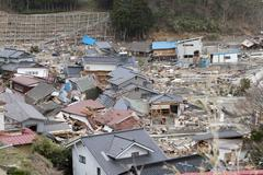 Japan Tsunami Destruction - stock photo