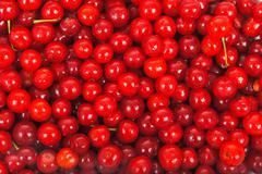 Sweet cherries texture Stock Photos