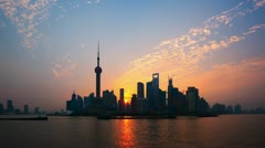 "Shanghai Sunrise Time Lapse.>>>Please search more similar: ""ShanghaiSkyline"" - stock footage"
