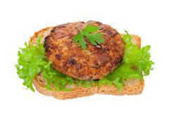 Tasty burger Stock Photos