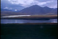 Brooks Range, Alaska, mountains, gray, bleak, wide shot Stock Footage