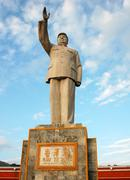 chairman mao's statue - stock photo