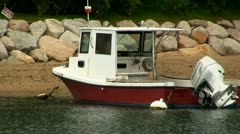 Classic fishing boat Stock Footage