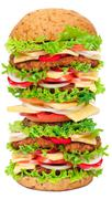 Big hamburger Stock Photos