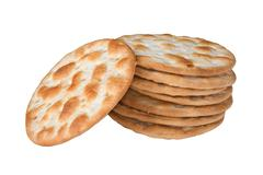 Stock Photo of some wheat  crackers isolated on white background