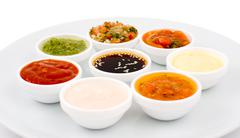 Sauces palette Stock Photos