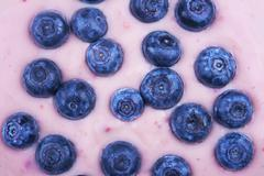 Stock Photo of blueberries with yoghurt