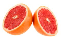 Two cross section of grapefruit Stock Photos