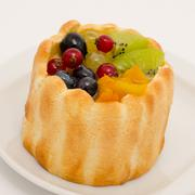 fruit and berry cake - stock photo