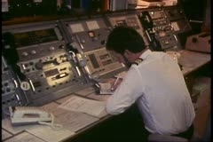 Island Princess, The Love Boat, cruise ship, radio room, panels of radios Stock Footage