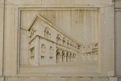 Stone relief - stock photo