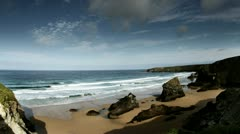 cornwall coast england uk - stock footage