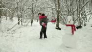 Stock Video Footage of Winter Fun In Snow