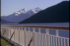 POV from deck of Love Boat, cruise ship, Inside Passage, Alaska Cruise Stock Footage