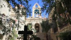 St. Gerasimos Monastery in Jordan Valley, Deir Hajla, Israel Stock Footage