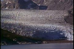 Glacier Bay Alaska, Alaska Cruise, POV passing tidewater glacier Stock Footage