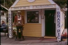 "Skagway, Alaska, Main Street, brothel, ""House of Negotiable Affection"" - stock footage"