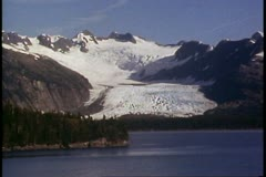 College Fjord, Alaska, POV move slowly, wide shot, glacier in distance Stock Footage