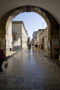 Main gate to Zadar old town Stock Photos