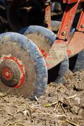 Discs plow - stock photo