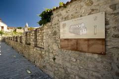 Remains of the basilica in Biograd na moru - stock photo