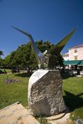 Memorial sculpture for Hiroshima Stock Photos