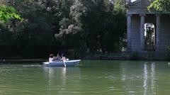 Italy, Rome, villa borghese Stock Footage