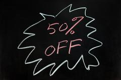 Stock Photo of fifty percent off