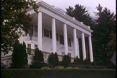 Governor's Mansion of Alaska,  Juneau, Alaska, white columns, no people Stock Footage