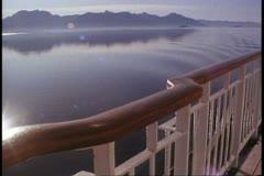 Lynn Canal, Alaska, Inside Passage, POV from cruise ship rail Stock Footage