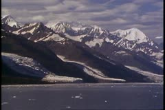 College Fjord, Alaska, POV move slowly, mountains and sea Stock Footage