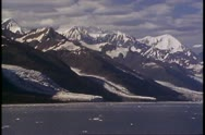 College Fjord, Alaska, POV move slowly, mountains and sea Stock Footage