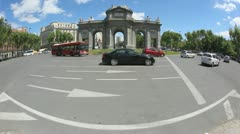 Roundabout Madrid Stock Footage