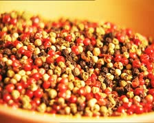 FOOD peppercorns color mix Stock Footage