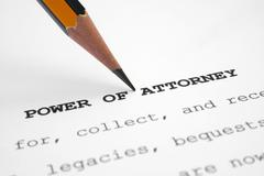 power of attorney - stock photo