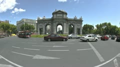 Time lapse Roundabout Madrid Stock Footage