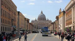 Italy, Rome, St. Peter's Church Stock Footage