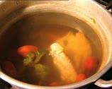 FOOD steaming broth Stock Footage