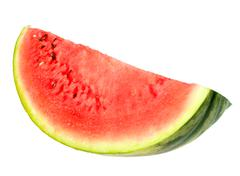 Stock Photo of single red slice of ripe watermelon