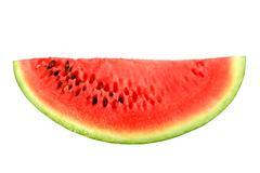 only red slice of ripe watermelon - stock photo