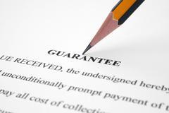 guarantee - stock photo