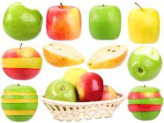 abstract set of fresh strange fruits - stock photo
