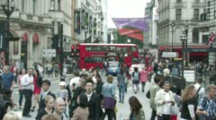 London Red buses and subway - time lapse Stock Footage
