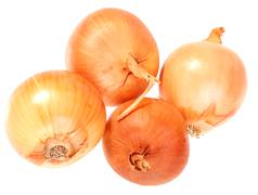 four a orange fresh onions - stock photo