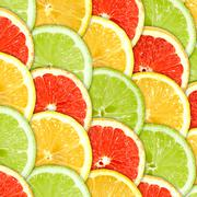 Background with citrus-fruit slices Stock Photos